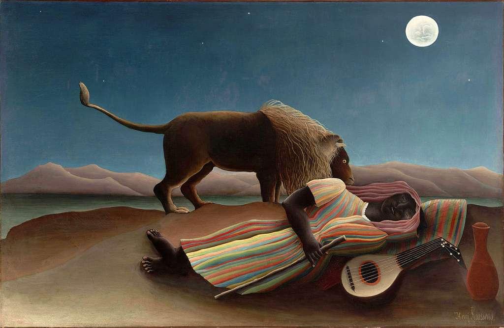 Le cycle du sommeil comporte différentes phases. Sur l'image, La Bohémienne endormie, peinture à l'huile réalisée par Henri Rousseau en 1897. © www.moma.org, DP