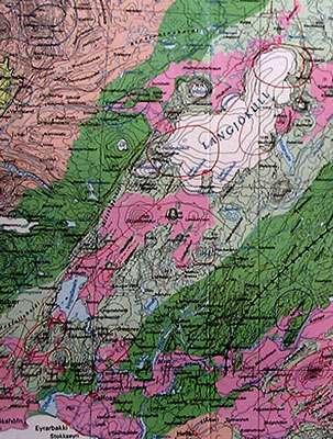 Carte géologique de la région de Thingvellir. © Claire König