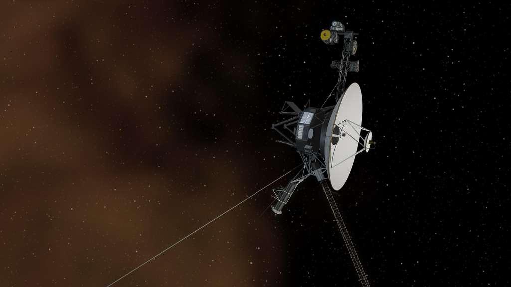 Illustration de la sonde Voyager 1 arrivant aux portes de l'espace interstellaire. © Nasa, JPL-Caltech