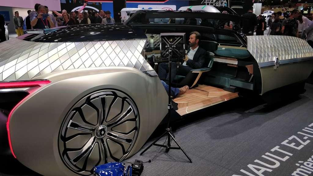 L'EZ-Ultimo, un véritable salon roulant totalement autonome signé Renault. © Sylvain Biget (Futura)