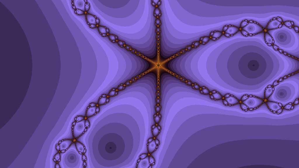 Mystérieuse fractale violette