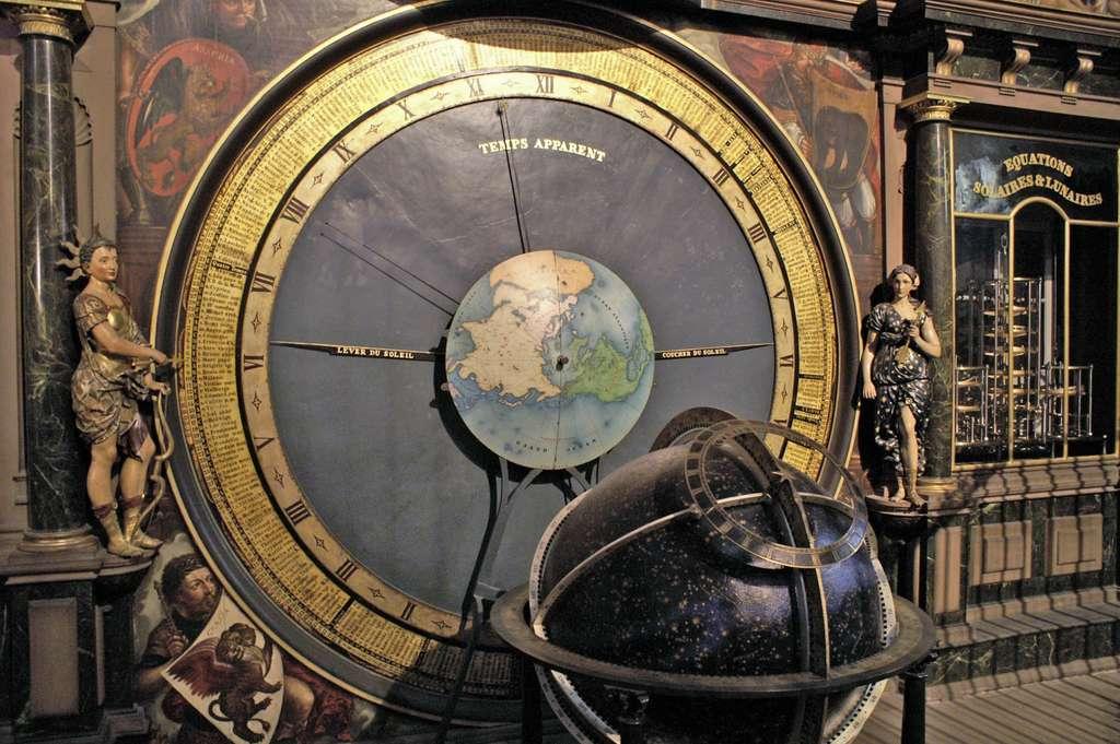 Partie de l'horloge astronomique de la Cathédrale de Strasbourg. © Wikimedia Commons, domaine public