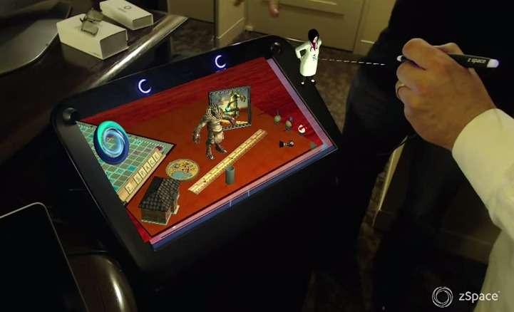 Ce n'est pas HP qui a développé la technologie de l'écran Zvr mais une société californienne nommée Zspace avec laquelle le géant de l'informatique s'est associé. © Zspace
