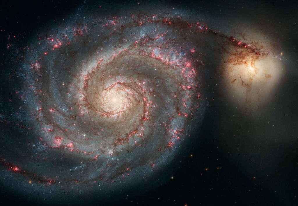 En interaction, la galaxie des Chiens de Chasse