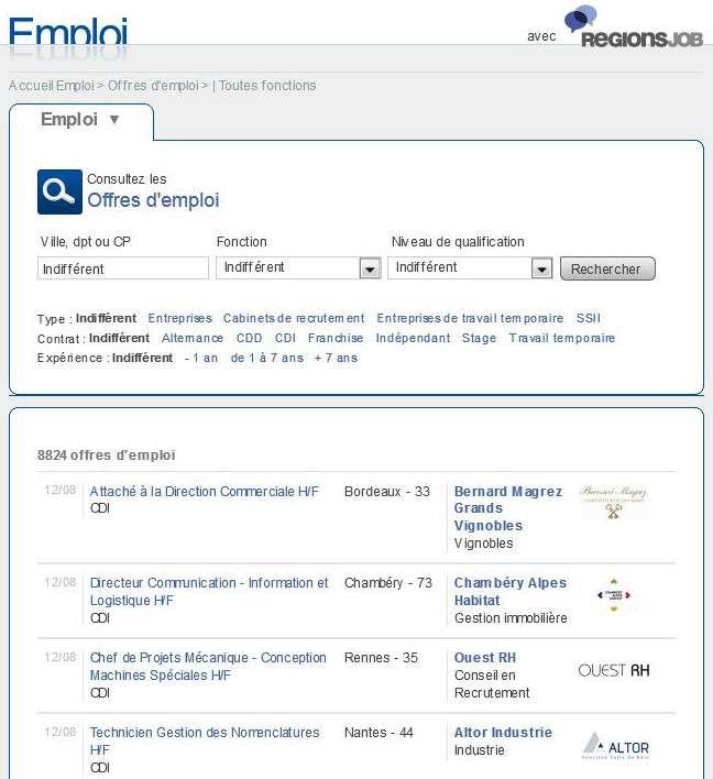 Cliquez pour consulter les offres d'emploi, vous abonner au Job Alert et déposer votre CV en ligne. © Futura-Sciences
