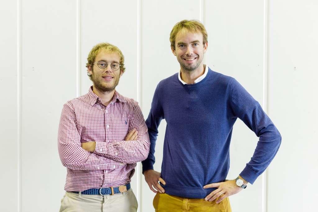 Guillaume Fourdinier et Gonzague Gru, fondateurs de la start-up Agricool. © Agricool