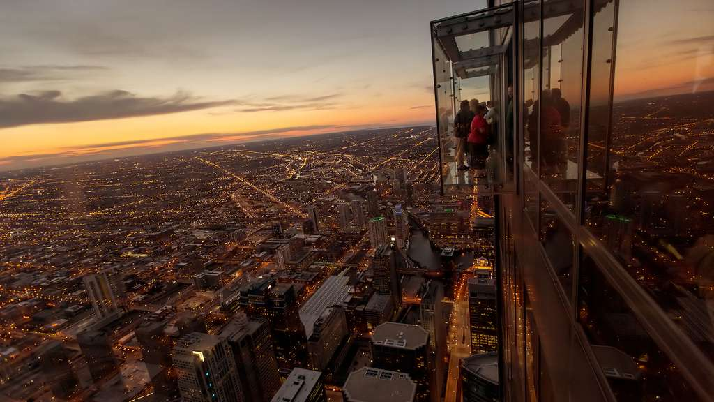 La splendide vue depuis la Willis Tower