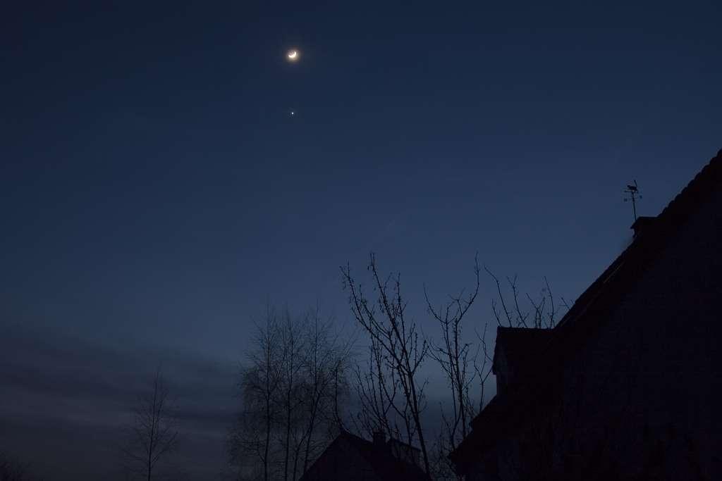 Conjonction Lune/Vénus le 30 janvier 2009