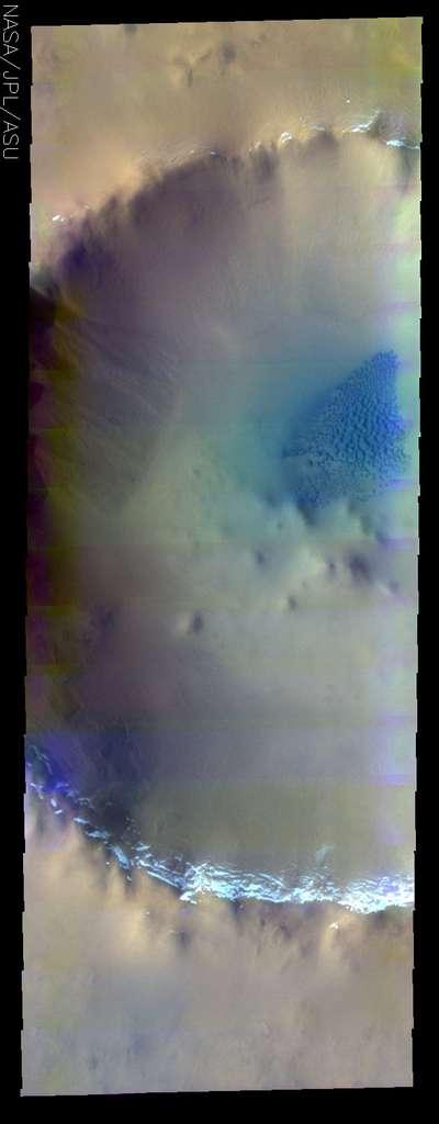 Zone glacée sur Mars