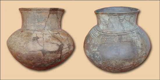 Fig.3 : Jarres décorées de style Catamayo A (2000-1400 BC) © J. Guffroy IRD