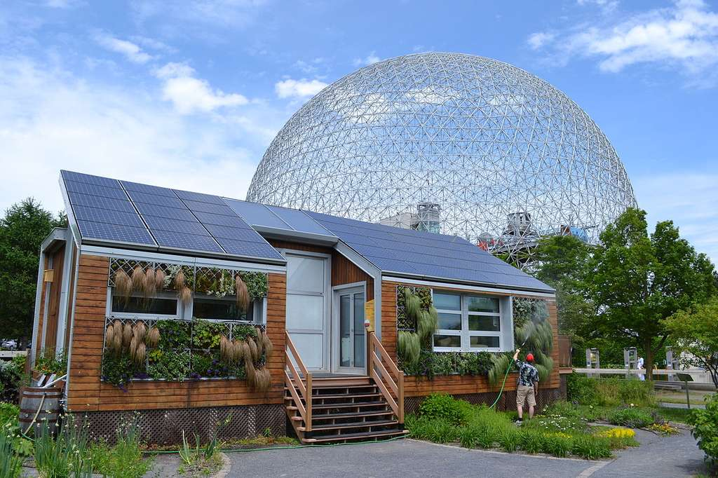 La maison solaire écologique, située sur l'île Sainte-Hélène au Canada. © Benoît Rochon, CC by-sa 3.0