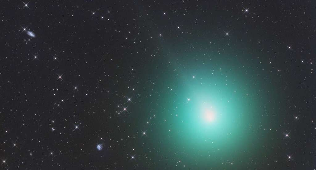 La comète 46P/Wirtanen, photographiée le 26 novembre 2018. © Avec la permission de Gerald Rhemann