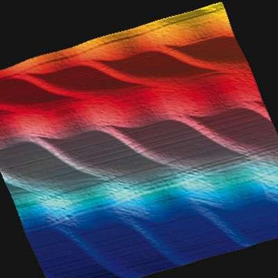 Surfaces structurées, gabarits pour la croissance Si (111). © Belin, livre Les Nanosciences, Tome 1, Eric Moyen et Margrit Hanbücken