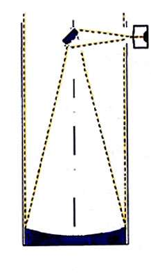 Télescope à montage Newton : le miroir primaire parabolique concave focalise les rayons lumineux au foyer de l'instrument, renvoyé en dehors du tube du télescope, sur le côté, grâce à un miroir plan. © Reproduction et utilisation interdites