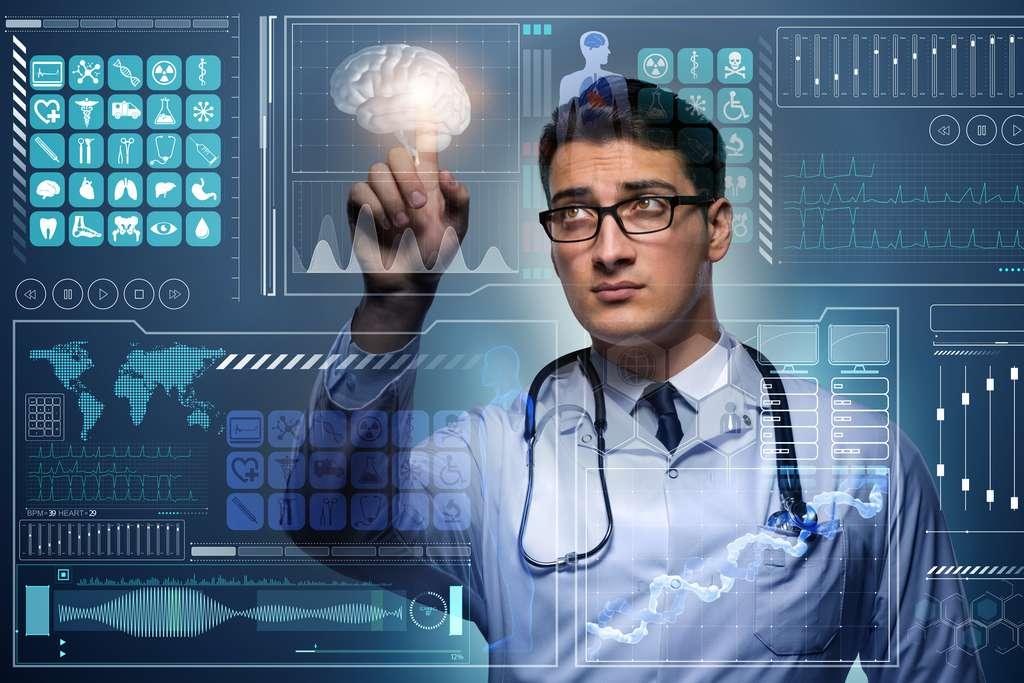 Le médecin de demain pourra être assisté par des outils du numérique ou de l'IA. © Elnur, Adobe Stock