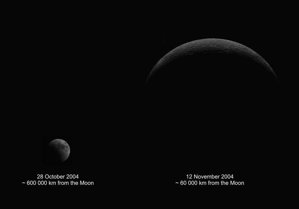 SMART-1 approchant de la Lune