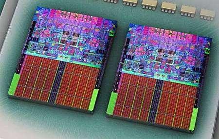 Processeur à quatre coeurs d'Intel. Crédit Intel.