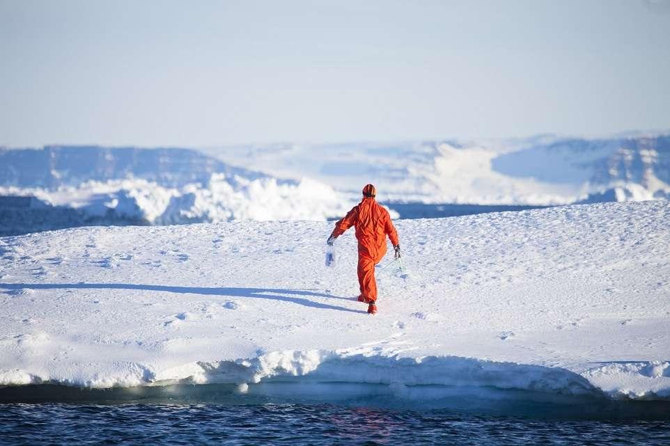 Alan Le Tressoler en avril 2011 sur la côte Est du Groenland