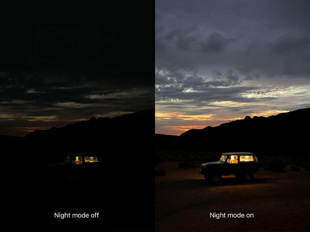 Apple promet de meilleurs clichés dans les conditions de lumière difficiles. © Apple