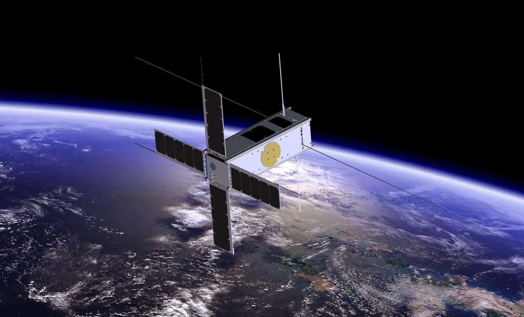Quelque 7.000 microsatellites devraient être mis en orbite d'ici 2027. © BISA