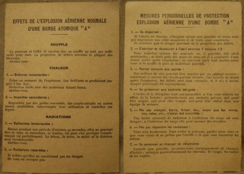 Ce document produit par l'État français en 1966 décrit les effets et les mesures de protection en cas d'explosion nucléaire. © Minutpap, Wikipedia, CC by-sa 4.0