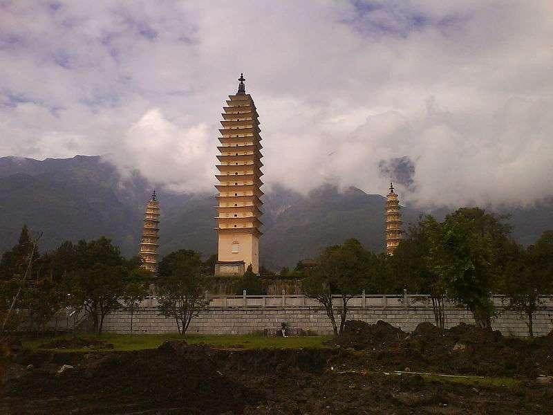 Le temple des trois pagodes, à Dali