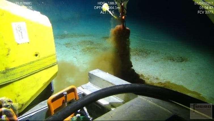 Les chercheurs de la Commonwealth Scientific and Industrial Research Organisation (CSIRO) ont sondé les fonds marins à la recherche de microplastiques à l'aide d'un sous-marin robotisé. © CSIRO