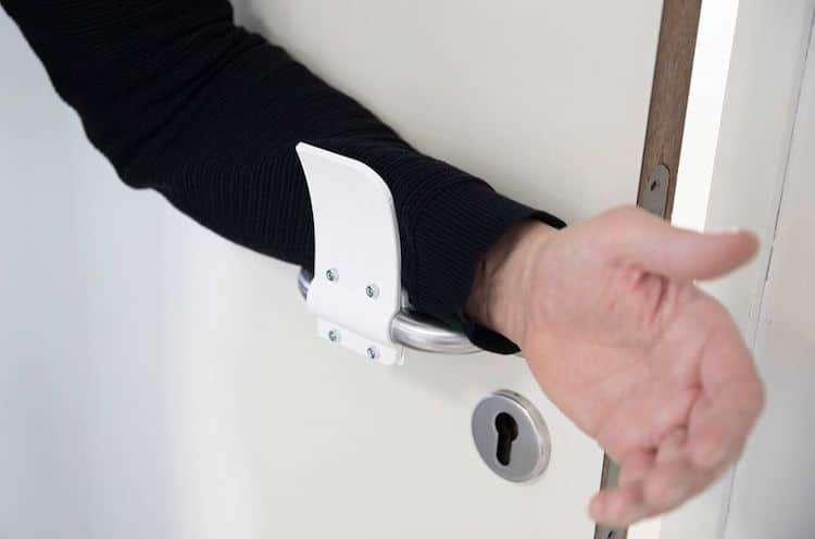 Une poignée qui évite toute contamination. À imprimer chez soi. © Materialise