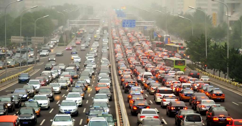 Pollution à Beijing, trop de circulatio. © Safia Osman, CC BY-NC 2.0