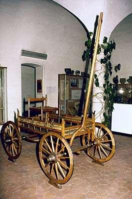Char funéraire, reconstitution (Ohnenheim, milieu VIIe siècle av. J.-C.). © André Beauquel - Tous droits réservés, reproduction interdite