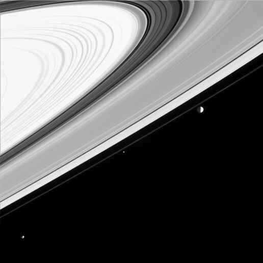 Janus, Pandora et Mimas : trois lunes de Saturne