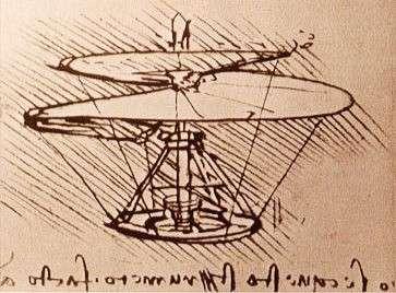 La vis aérienne de Léonard de Vinci