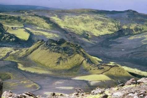 Vue rapprochée du Laki. Crédits : Nordic Volcanological Center