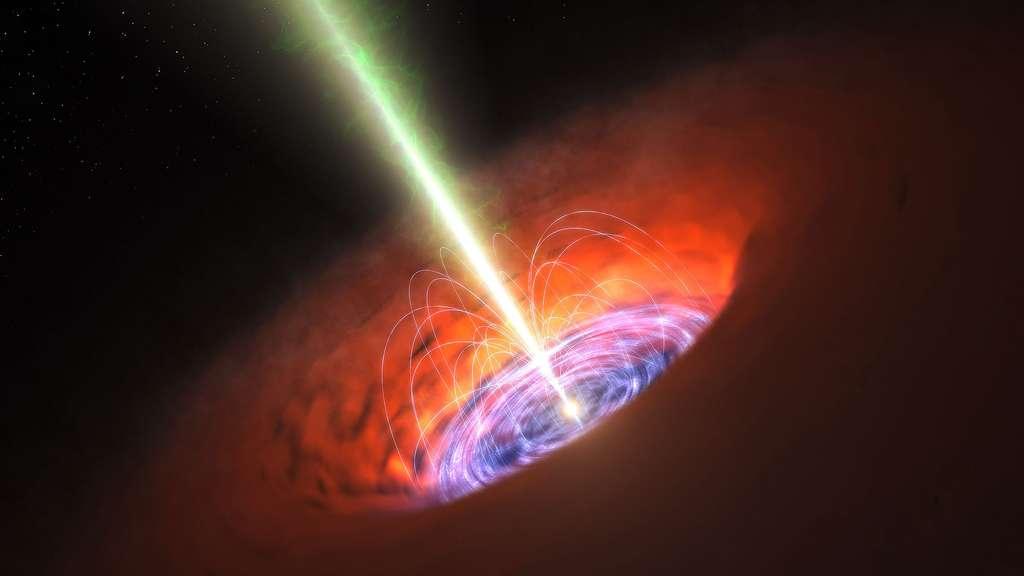 Un trou noir supermassif au centre d'une galaxie