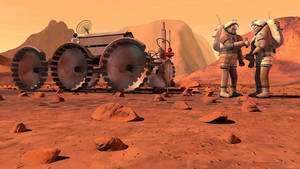 Les partisans des missions habitées vers Mars ont peut-être une carte à jouer maintenant que l'on abandonne l'objectif de retourner sur la Lune. Ils n'ont jamais compris pourquoi il fallait retourner sur la Lune avant d'envisager d'envoyer des hommes sur Mars. Crédit Nasa