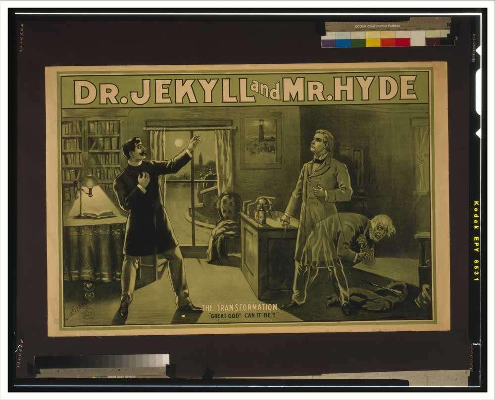 L'étrange cas du Docteur Jekyll et de M. Hyde, de Robert Louis Stevenson, raconte l'histoire d'un homme tiraillé entre deux personnalités, une bonne et une mauvaise. Cette œuvre littéraire est souvent associée à la schizophrénie. © SnapshotsohthePast.com, Flickr, cc by sa 2.0