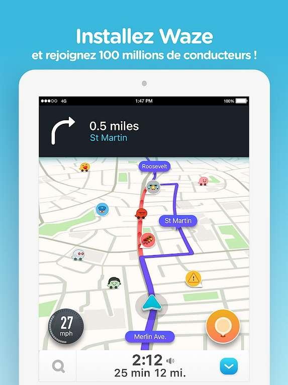 Waze s'appuie sur sa communauté pour signaler en temps réel tout élément inhabituel sur les routes. © Google