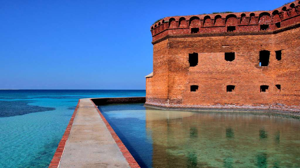 Le fort Jefferson, au parc national sec de Tortugas