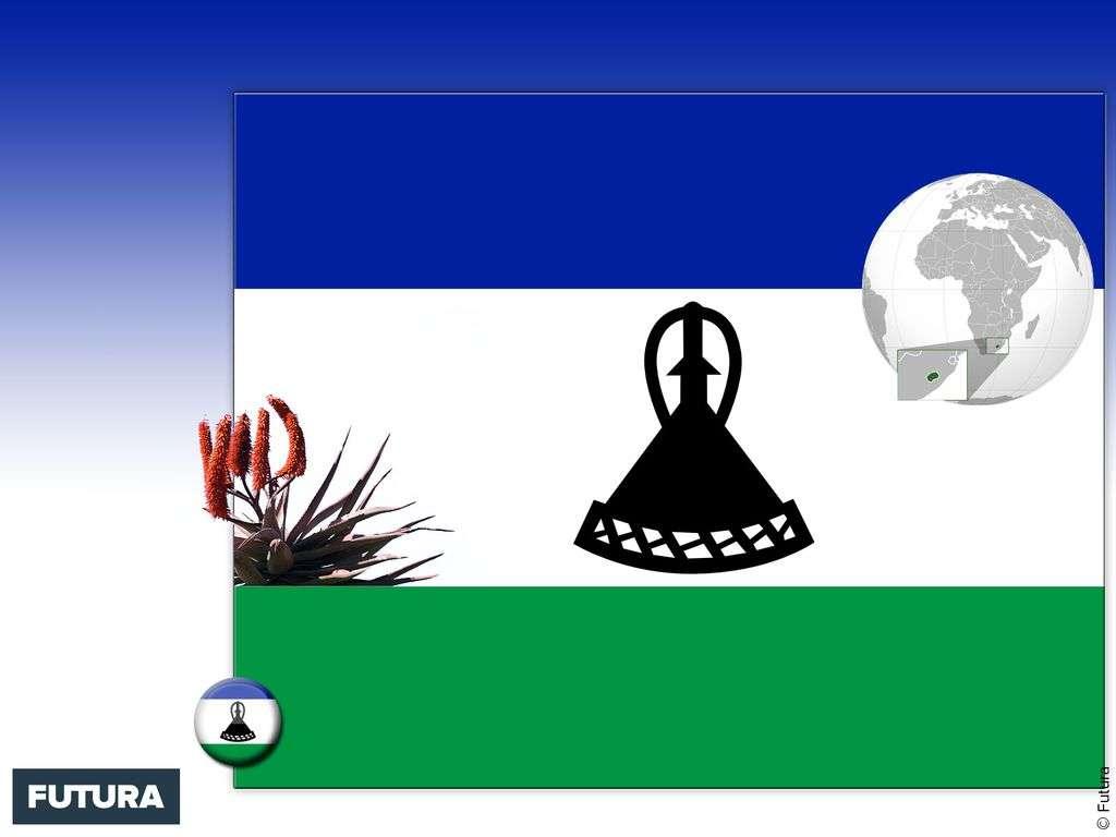 Drapeau : Lesotho