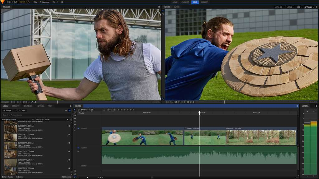 HitFilm Express est entièrement gratuit et propose plus de 410 effets spéciaux différents. © FXhome Limited
