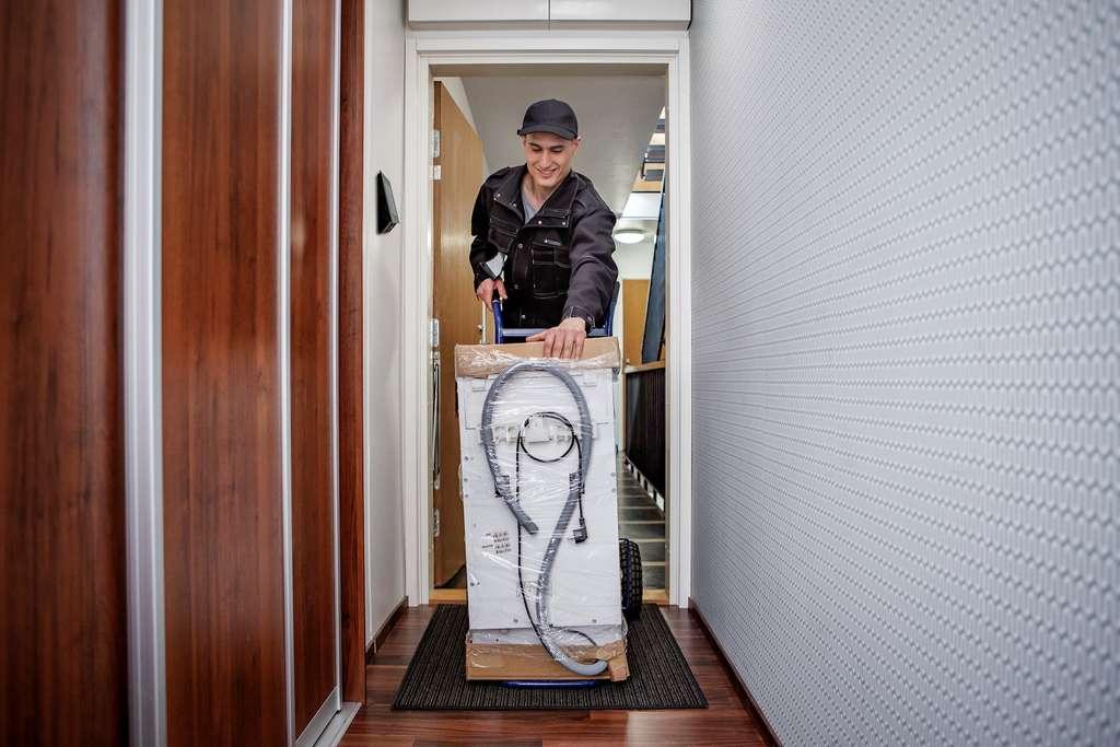 Même absent, le résident peut attribuer un droit d'accès temporaire à un livreur. © Tous droits réservés