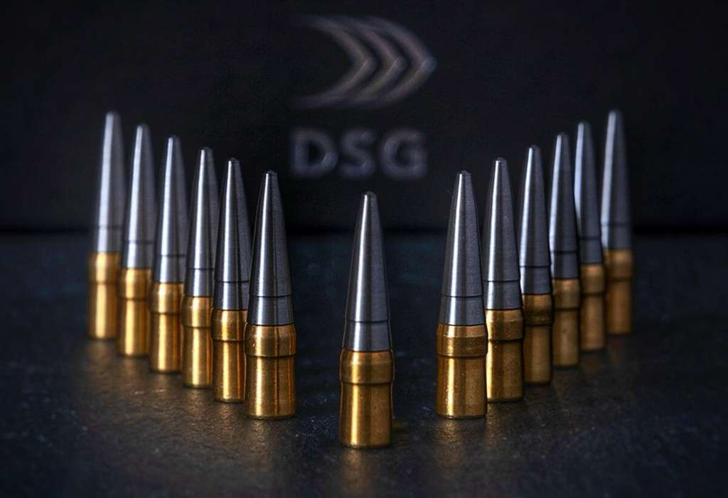 Les balles possèdent une forme spéciale qui crée une bulle d'air à l'avant et réduit ainsi les forces de friction autour. © DSG Technology