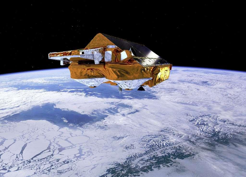 CryoSat, le satellite de l'Esa chargé d'étudier les pôles. © Esa