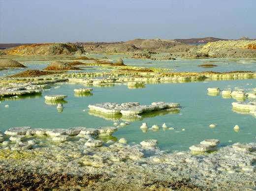 Le site géothermal de Dallol. © J.-M. Bardintzeff, reproduction et utilisation interdites