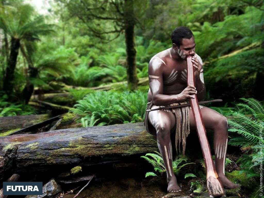 Joueur de didgeridoo - Australie