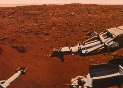 L'atmosphère de Mars ne protège pas la planète des rayons UV du Soleil. © DR