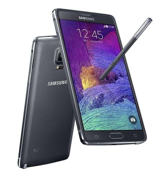 Le Galaxy Note 4 a été dévoilé en même temps que le Note Edge. Cette nouvelle version de la phablette Samsung propose un écran de 5,7 pouces et une configuration surpuissante. Le Note 4 sortira en octobre. © Samsung