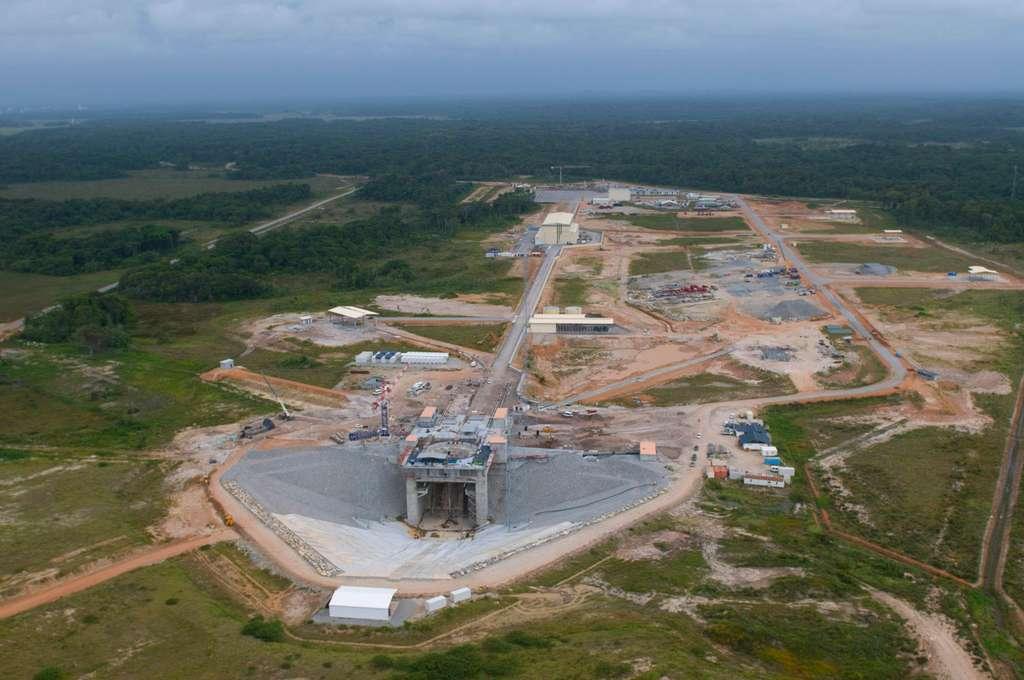 La base de lancement de Soyuz en Guyane (juin 2008)