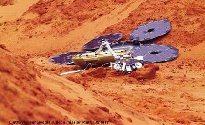 On ne sait pas ce qu'est devenue la sonde Beagle 2 qui devait se poser sur Mars. © DR