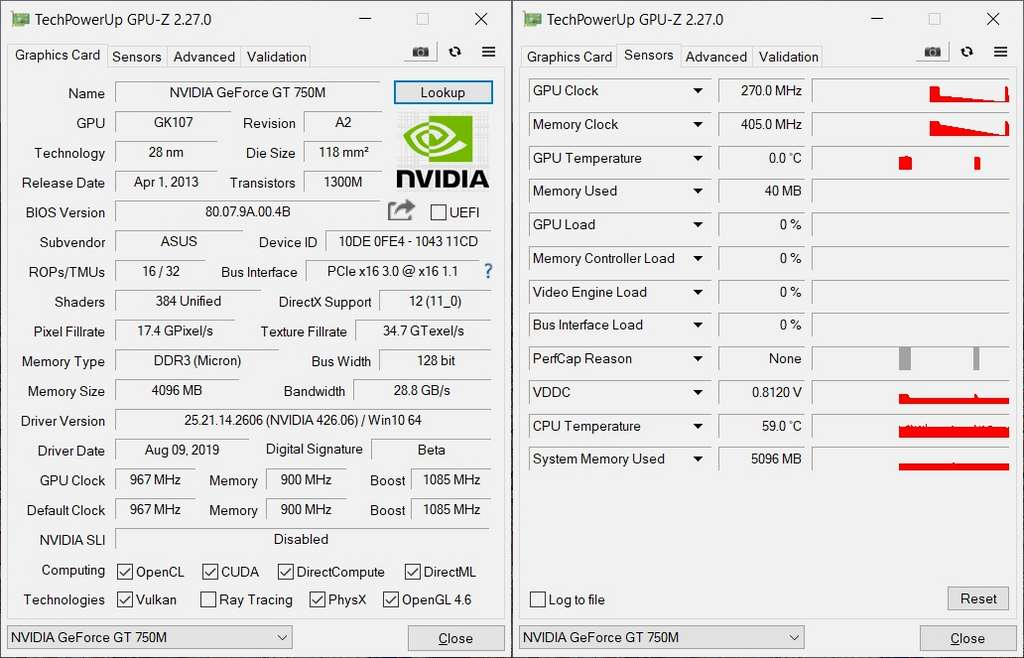 GPU-Z fournit toutes les informations importantes sur la partie graphique de l'ordinateur. © www.techpowerup.com